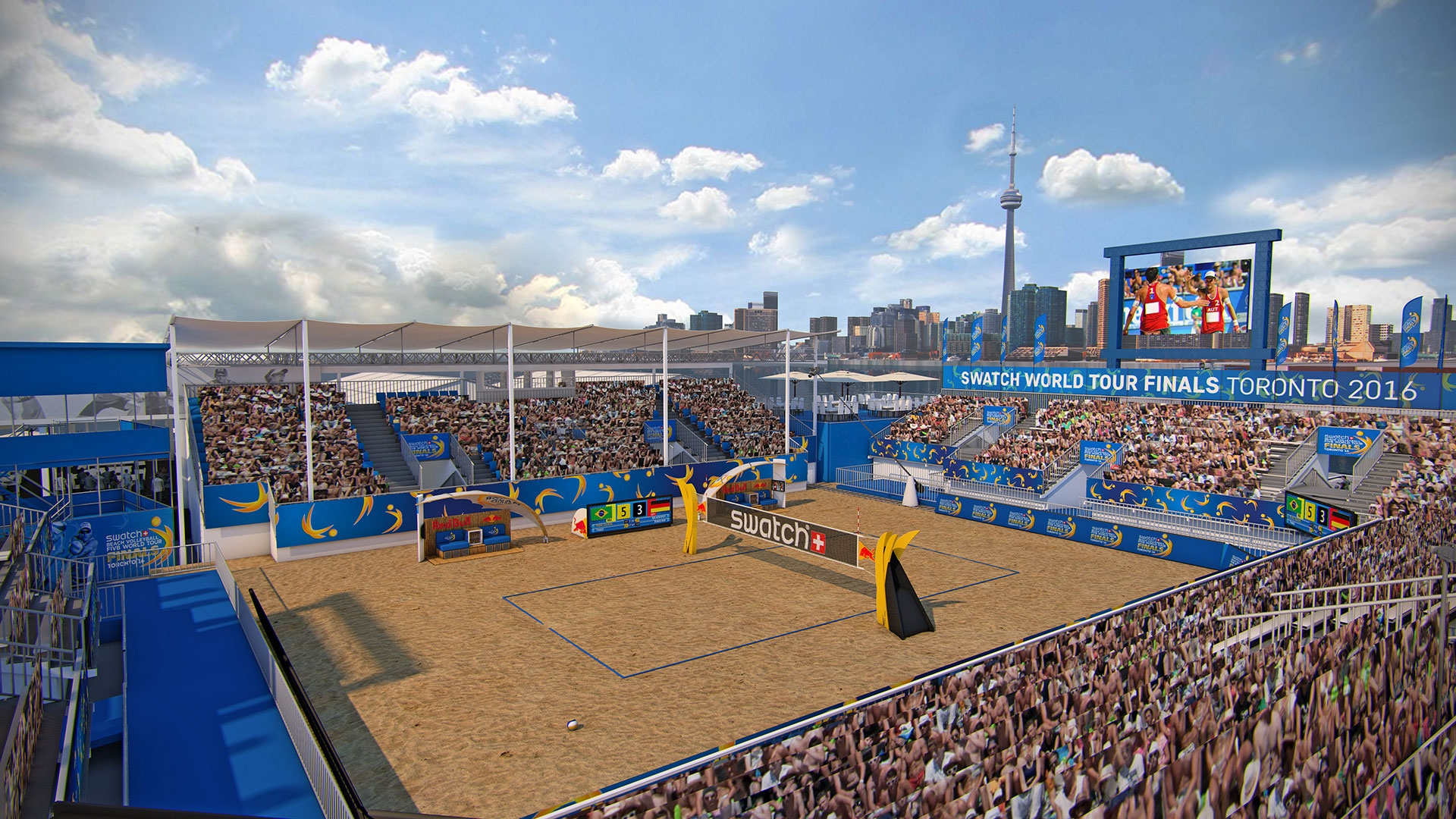 The Swatch Beach Volleyball FIVB World Tour Finals will be...in Toronto!
