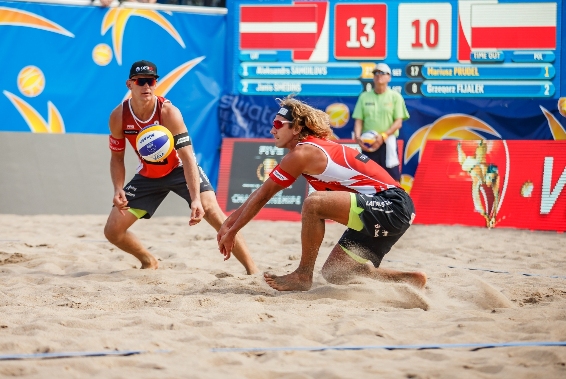 The Latvians triumphed in their first match at the #TorontoFinals. Photocredit: Martin Steinthaler.