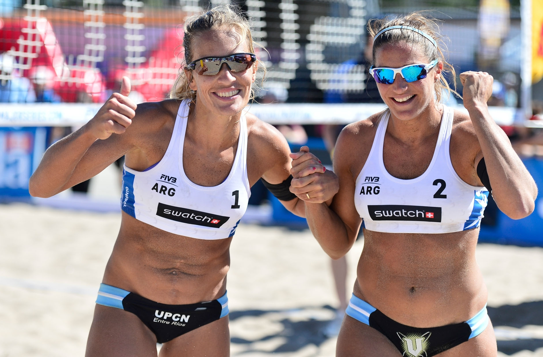 After losing yesterday to beating the Olympic champs! What a turnaround for Gallay/Klug. Photocredit: Bernhard Horst