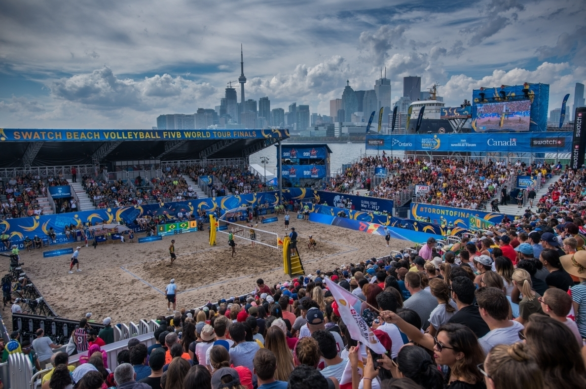 What a view for beach volleyball! Photocredit: Bernhard Horst